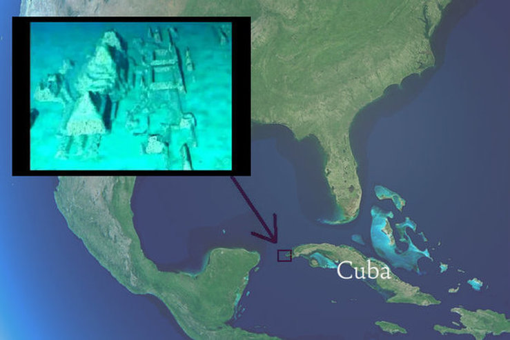 Pyramids Of Glass Submerged In The Bermuda Triangle Apparently - Bermuda in relation to us map